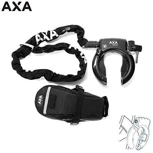 01200160K Axa Defender Rahmenschloss mit Kette RLC 100 Ø 5,5 mm + Tasche