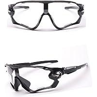 Somesun, occhiali da sole con lenti UV400 per equitazione, mountain bike, sport all'aperto, Clear