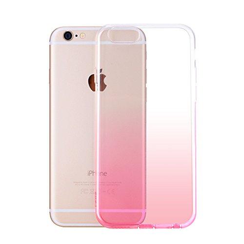 MicBridal® coque TPU pour Apple iphone 6plus, iphone 6splus coque transparente Silicone ultra fine case étui Housse Protecteur cover écran 5,5 pouces Rose