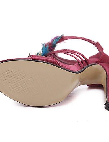LFNLYX Scarpe Donna-Sandali / Scarpe col tacco / Stivali / Sneakers alla moda / Solette interne e accessori-Matrimonio / Formale / Casual / Burgundy