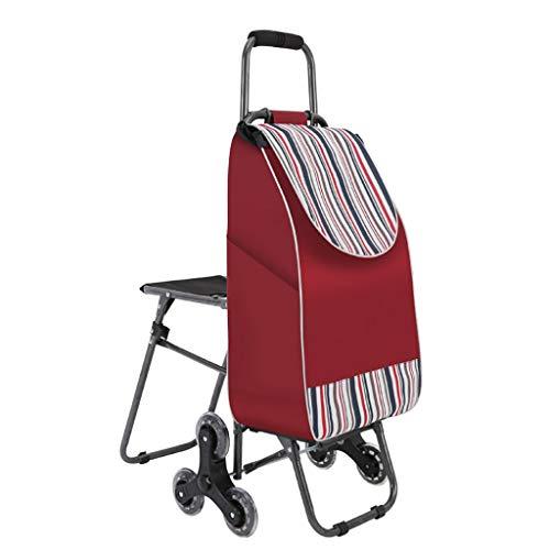 RTTgv Einkaufstrolleys Faltbare Einkaufswagen Sitz und Mobile Zubehör Tasche Einkaufskorb tragbare Radverschönerung (Farbe : C)