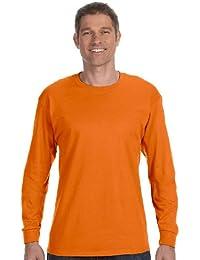 Hanes Mens Tagless 100% Cotton Long Sleeve T-Shirt, Small, White
