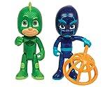 JP PJ Masks- Pj Masks Coppia Personaggi Geko e Ninja, Multicolore, JPL24888