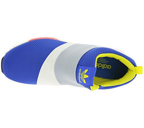 adidas ZX Flux Slip On White Yellow Blue Bleu