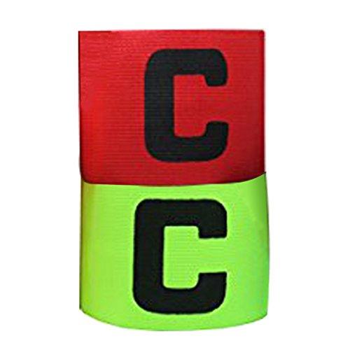 6 piezas fútbol Capitán brazalete, brazaletes elástica de fútbol adultos, Velcro para, tamaño ajustable, apto para varios deportes como el fútbol y Rugby Etc