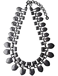 Pilgrim Trendy 'Thrill Of Life Collection' perfecto para vestir collar bañado en Hematita Tribal... Longitud: 38 cm