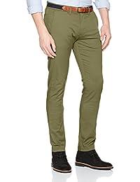SELECTED HOMME Herren Hose Shhyard Olive Branch Slim St Pants Noos