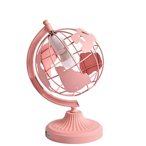 Schreibtischlampe für Kinder, Kreativ Tischlampe lesen Für Studium und Büro Haushalt LED Nachttischlampe Wohnzimmer Cafe Beleuchtung Eisenkunst,Pink
