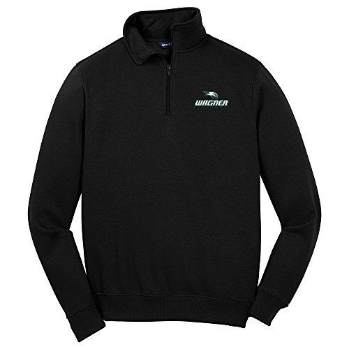 Preisvergleich Produktbild NCAA Wagner Seahawks Herren 1 / 4 Zip Pullover,  Größe XXL,  schwarz