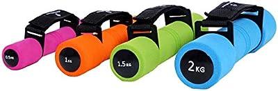 Mancuernas de aeróbic »Liona« / mancuernas de entrenamiento / Pesas con correa de mano regulable en 4 niveles de peso