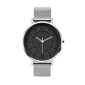 Concise Code Minimalist Simplicity Stainless Steel Ultra Thin Watch (Grey)