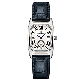 Hamilton Boulton H13421611 – Reloj de Pulsera para Mujer (Cuarzo, Correa de Piel), Color Azul