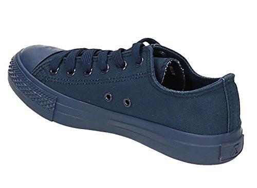 Jumex Uni Sneaker Turnschuhe Schnürschuhe Worker Chunk 36-41 Weiß Rosa Blau (40, D. Blau) (Stoff Chunk)