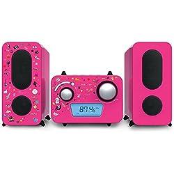 Bigben Interactive MCD11RSSTICK Ensemble Audio pour la Maison Système Micro Audio Domestique Rose - Ensembles Audio pour la Maison (Système Micro Audio Domestique, Rose, 1 disques, Haut, FM,PLL, LCD)