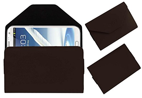 Acm Premium Pouch Case For Samsung Galaxy Note 2 N7100 Flip Flap Cover Holder Brown  available at amazon for Rs.329