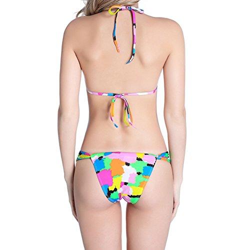 Meijunter Mode Brasilien Zebra Muster Bikini Set Gepolstert BH Badeanzug Bademode Unterwäsche Seven Block