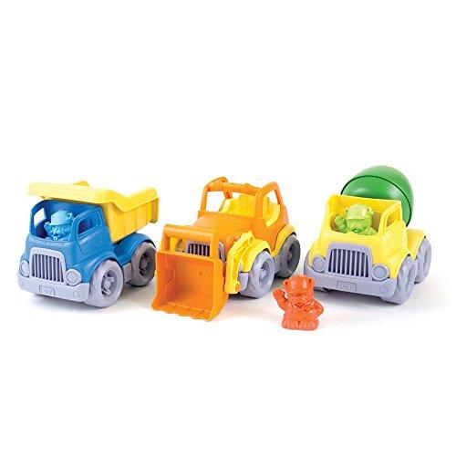 Green Toys Construction camions Lot (Lot de 3) – Benne/Pelle/Mélangeur