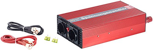 richter: Kfz-Spannungswandler 1000 W, 2X 230 V AC, 5 V USB, Peak 2000 W (Inverter) ()