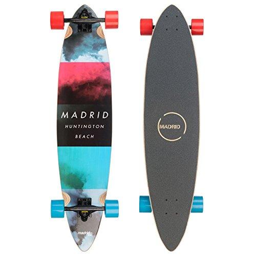 """Madrid Longboard, Topmount, Cloud Blunt (38"""" / 96,5cm), Komplettboard Freeride Cruiser Board"""
