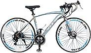 VLRA Racing Bike 700c Road Bike 27 Inch Suspension Disc Brake Bike 21speed