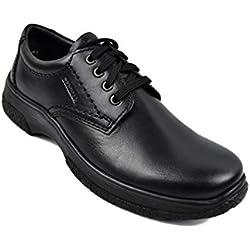 Zerimar Zapatos Hombres | Zapatos de Piel| Zapatos Vestir |Zapatos hostelería| Zapatos Confortables| Zapatos de camareros Color Negro Talla 46