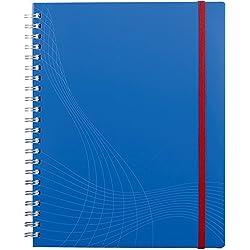 Avery Zweckform 7037 Notizbuch notizio (A4, Kunststoff-Cover, Doppelspirale, kariert, 90 g/m²) 90 Blatt, blau
