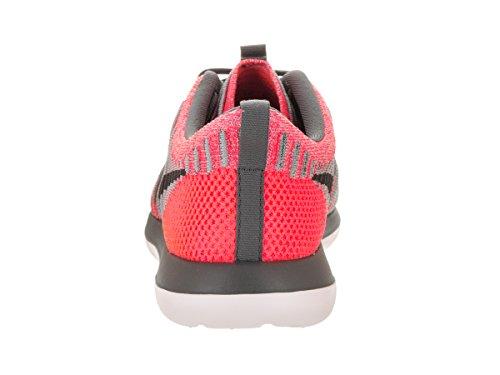 Nike Kids Roshe Two Flyknit (GS) Running Shoe Hot Punch/Dark Grey Wolf Grey