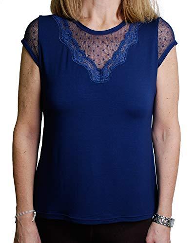 JANIRA Camiseta Spotty M/C - Azul - L