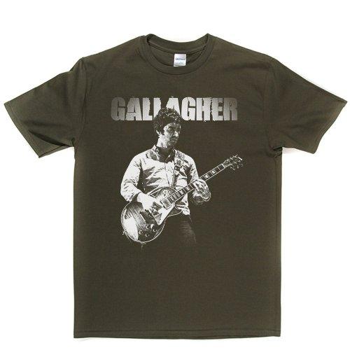 Noel Gallagher Named Brit Rock Indie T-shirt Militärgrün