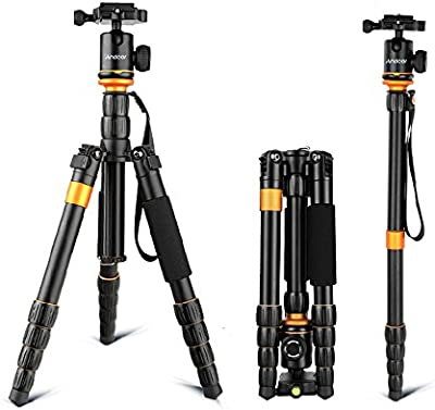Andoer® Profesional Ajustable Trípode Monópode Monopod con Cabeza de Bola Ballhead de Cámara Videocamara Fotografía para Canon Nikon Sony Panasonic DSLR