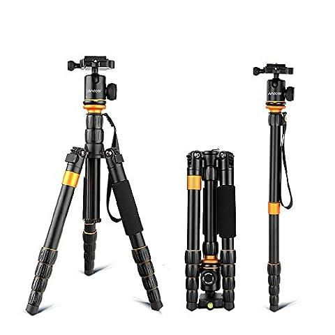 Andoer Professional Photography verstellbar abnehmbar faltbar Digitalkamera Camcorder Video Stativ Einbeinstativ Kugelkopf für Canon Nikon Sony Panasonic DSLR