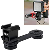 Ulanzi 3 en 1 Triple soporte adaptador de zapata caliente, BY-MM1 soporte de micrófono LED soporte de luz de vídeo soporte para zhiyun Smooth 4