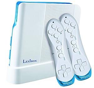 LEXIBOOK (JG7425 Consola de Videojuegos, 221 Juegos y Controladores inalámbricos, Blanco/Azul, Color