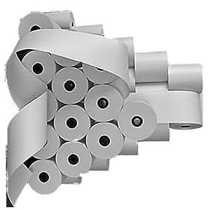 Pour Caisse enregistreuse Olivetti Mercator 10(100pièces)-Blanc 57MM X 65mm x 40m Coeur Ø 12mm sans bois de ruban d'origine