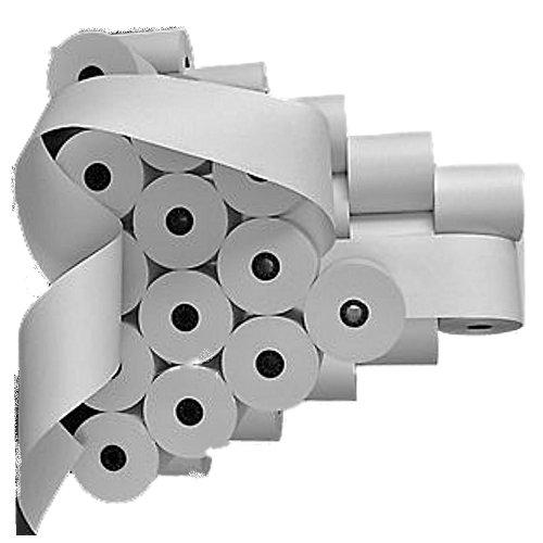 Kassenrollen für Citizen IDP-460-(50.stück)-76mm x80mm x 60m Kern Ø 12mm - weiß holzfrei-Farbbandfabrik Original