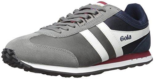 Gola Boston, Sneakers Basses Homme Gris (Grey/navy/burgundy)
