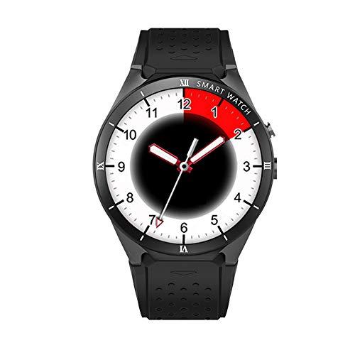LH-Intelligente Uhr:3G-Smartphone-Uhr HD runder Bildschirm Sport Armband, Schwarzes Feld -