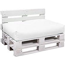 BuBiBag 6-weiß-120x80x15cm Palettenkissen, Sitzauflage, 130 L