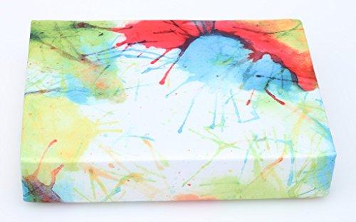 Good Night variopinta delle donne Splash-ink stampa floreale sera frizione della borsa # 3 blu