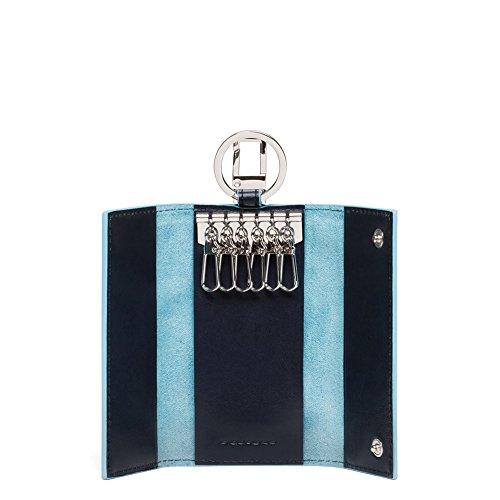 Piquadro PC1397B2/BLU2 Blue Square Portachiavi, Blu, 12 cm