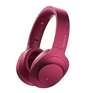 Sony MDR-100ABN High-Resolution Kopfhörer (Headset-Funktion, Noise Cancelling, kabellos, NFC, Bluetooth, 20 Stunden Akkulaufzeit, LDAC) bordeaux-pink