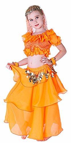 Princess Dress for Girls Orange 14 16