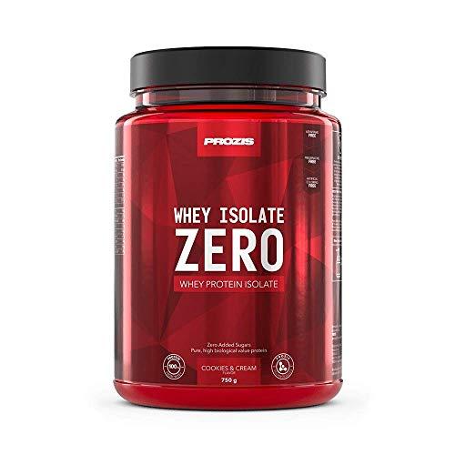 Prozis Zero Whey Isolate 750 g Kekse und Sahne - Gewichtsverlust, Muskelerhalt und Bodybuilding - Kohlenhydratarm -