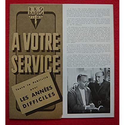 Dossier de presse de Les années difficiles (1948) - 21x22cm, 16 p -– Film de Luigi Zampa avec Ave Ninchi, Odette Bedogni– Photos N&B - résumé du scénario