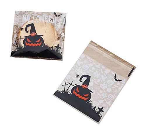 Black Temptation Pack von 100 schönen Süßigkeiten Papers Halloween Cookie Taschen, M6