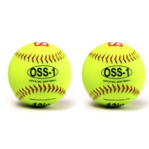 "OSS-1 Baseball Ball Training, Softball, 12"", 2 Stk"