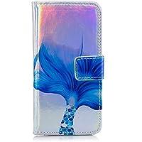 Gelusuk Samsung Galaxy S9 Plus Hülle,Glänzend Laser PU Leder Bookstyle Flip Case Wallet Cover Tasche mit Kartenfach Standfunktion TPU Silikon Bumper Schutz Schale für Samsung S9 Plus-Muster#5