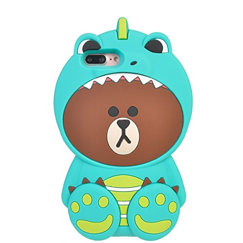 iPhone 7 Plus (5.5 inches) Coque,COOLKE Mode 3D Style Cartoon Gel Soft silicone Coque Housse étui Case Cover Pour Apple iPhone 7 Plus (5.5 inches) - 013 006