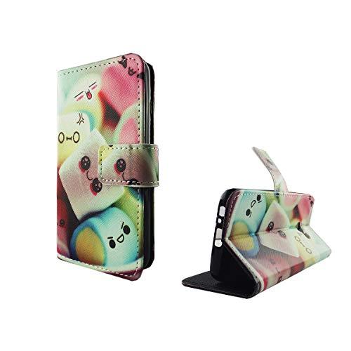 König-Shop Handy-Hülle für Samsung Galaxy A3 2017 | Hochwertiges Flip Case, magnetische Bookstyle Klapphülle und Silikon Handyhalter Marshmallows 209590