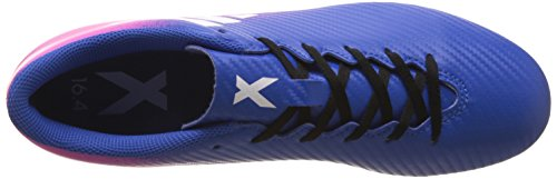 adidas X 16.4 Fxg, Chaussures de Football Compétition Homme Multicolore (Blue/Ftwr White/Shock Pink)